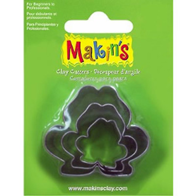 Makins Clay & Cookie Cutters - FROG shape (Set of 3) cake Fondant