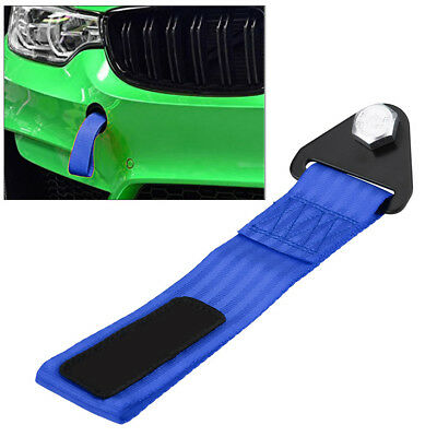 High Strength Racing Tow Towing Strap Hook Rope Front Rear Bumper For Car Blue
