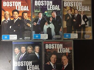BOSTON LEGAL The Complete Series 1-5 27 x DVDs Excellent Cond! Season 1 2 3 4 5