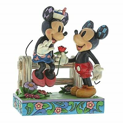 Disney Traditions Mickey and Minnie Mouse Blossoming Romance Jim Shore 6000969