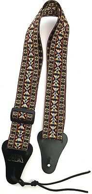 Guitar Strap GOLDEN WOVEN Nylon For All Acoustic & Electrics Made In USA