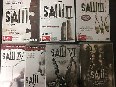 SAW - Complete 7 Film Colleciton 7x DVDs AS NEW! I II III IV V VI Final Chapter