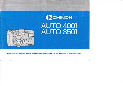 Genuine Original Chinon Auto 4001 3501 Camera Manual