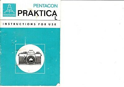 Genuine Original Praktica  L Camera Operating Instructions Manual