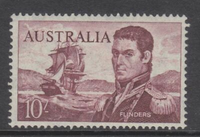 1964 Navigators Definitives 10/- Violet Flinders Cream Paper MUH SG 358 497