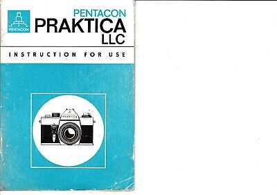 Genuine Original Praktica  Llc Camera Operating Instructions Manual
