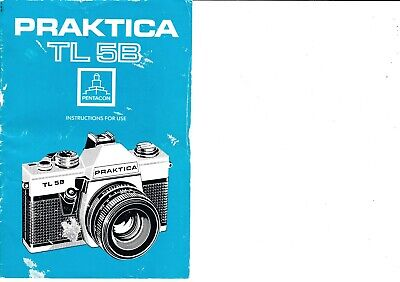 Genuine Original Praktica  Tl5B Camera Operating Instructions Manual