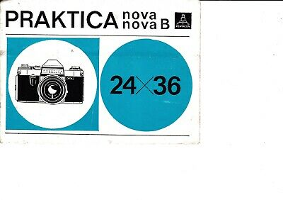 Genuine Original Praktica  Nova Nova B 24X36 Camera Operating Instruction Manual