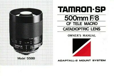 Minty! Genuine Tamron Mirror Lens 500Mm F/8 Cf Tele Macro Catadioptric Manual