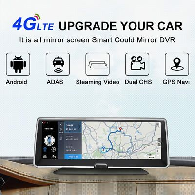 Bluavido 8″IPS 4G Car DVR GPS Navigation Android ADAS FHD 1080P Dash camera Reco