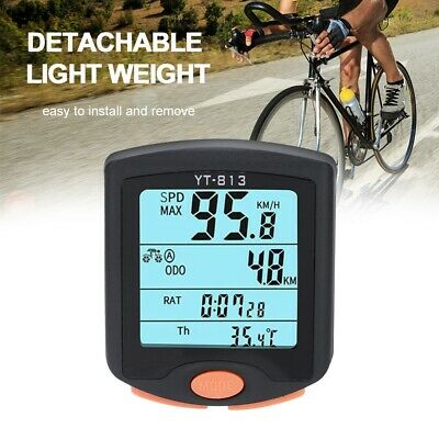 HOT Wireless Bike Cycling Bicycle Cycle Computer Odometer Speedometer Backlight^