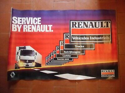 Affiche , poster  CAMIONS  , ,  RENAULT  TRUCKS  2000 exemplaires  garages 1983