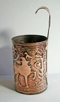 Arts & Crafts Yattendon Fivemiletown Arts & Crafts hook handled copper measure