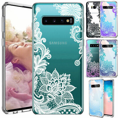 Galaxy Note 10 Plus 10+ S10e S10+ Case Mandala Lace Clear Bumper Cover F Samsung