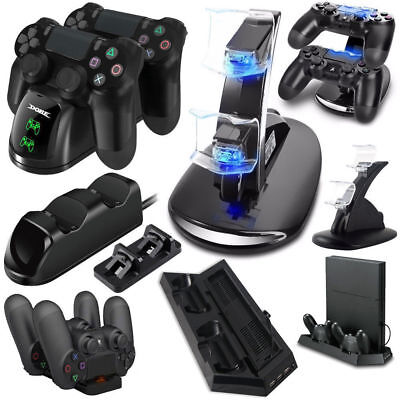 USB Dual Controller LED Charger Dock Station Charging Stand for PlayStation PS4