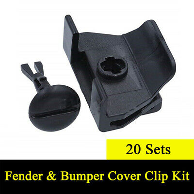 20 Sets Clips Car Front Fender Bumper Cover Universal Accessories Replacement