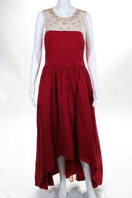 2a741d21 MARCHESA NOTTE BEIGE Red Precision Gown $1295 Size 10 10411109 ...
