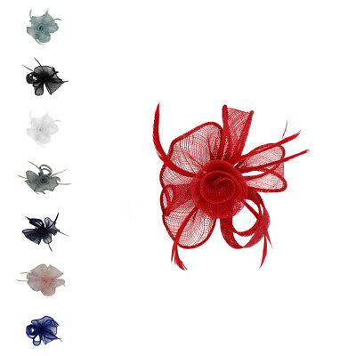 Ladies Day Flower Fascinator Wedding Hat Royal Ascot Party Race Brooch Pin Clip