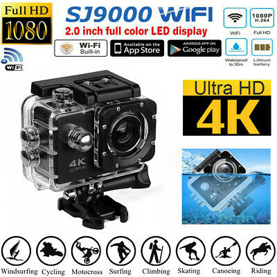 Ultra 4K HD1080P Waterproof Sports Camera WiFi Action DVR Cam Camcorder as GoPro