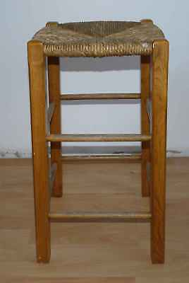 Stool top antique straw n°2