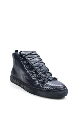 59d6898329d0a MEN S AUTHENTIC BALENCIAGA Navy Blue White Size 10.5 High Top ...