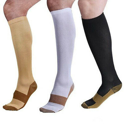 Copper Infused Compression Socks 20-30mmHg Graduated Mens Womens S-XXL CYX