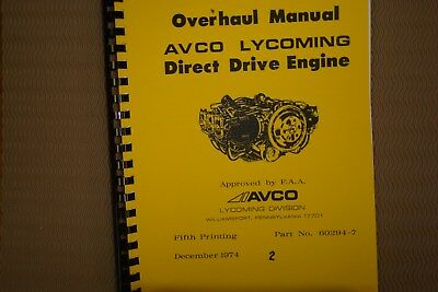 Lycoming Engines All Direct Drive Engines Overhaul Manual     2