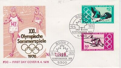 West Germany-1976 XXI Montreal Olympic Games First Day Cover