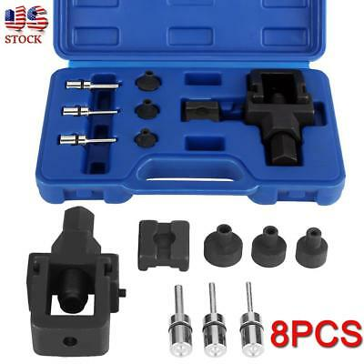 8pc Heavy Duty Motorcycle Bike Chain Splitter and Riveting Tool Set w/ Case Hand Tools