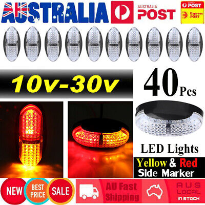 40X 10V-30V RED Yellow & Red LIGHTS SIDE MARKER LED TRAILER TRUCK LORRY LAMP