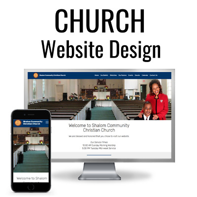 STUNNING Church Website Design ⛪ Religious Web Design ⛪ 5 Professional Pages