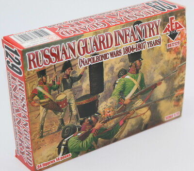 RedBox 72129 Napoleonic Russian Guard Infantry 1804-1807. 1/72 scale.