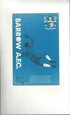 Barrow v Southport League Cup Replay Football Programme 1968/69