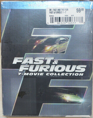 Fast and Furious 7-Movie Collection (Blu-ray Disc + Digital HD) Sealed