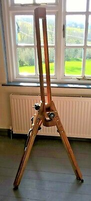 Large foldable wooden easel stand, used