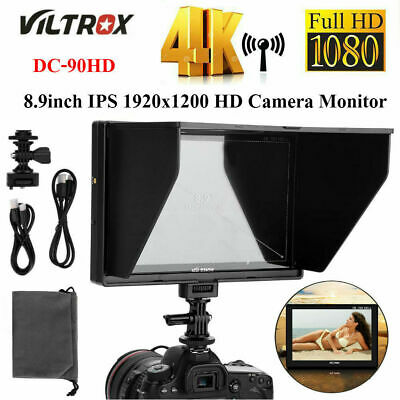 VILTROX DC-90HD 8.9inch HD IPS Screen 1920x1200 4K Video Monitor for DSLR Camera