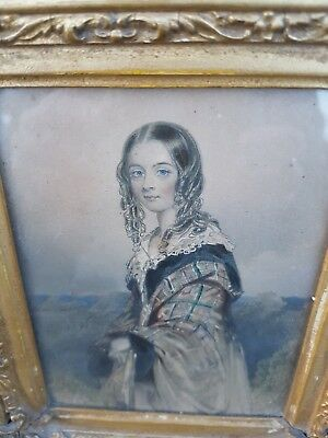 Fabulous pair of Victorian antique hand coloured engravings c1850