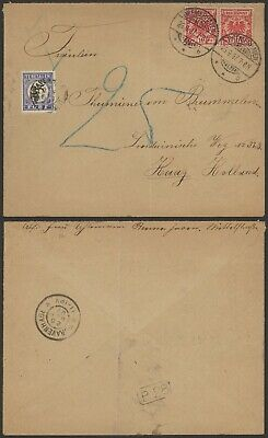 Germany 1897 - Cover Bremerhaven to The Hague Netherlands - Postage due