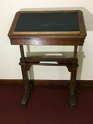 Antique Oak Architects, Artists, Reading or Drafting Adjustable Table