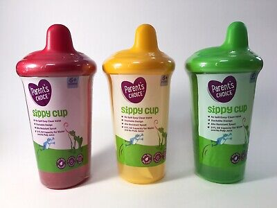 Parents Choice Non Spill 9 OZ Sippy Cup - 6 + Months - Baby Child Toddler 3 Pack
