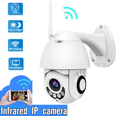 HD 1080p Outdoor PTZ WiFi IP Speed Dome Camera Pan Tilt IR Network Home Security