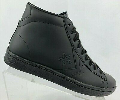 a74b39b86fce Converse Pro Leather 76 Mid All Star Triple Black Casual Shoe 155334C Multi  Size