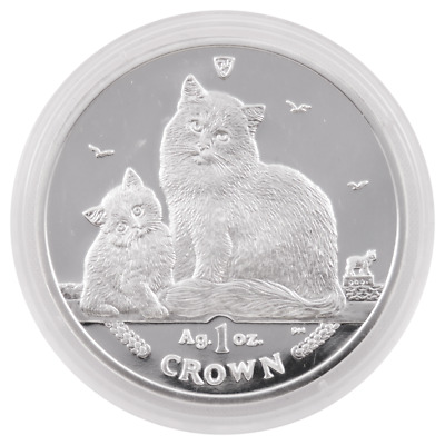 2013 Proof Isle of Man 1oz Silver Siberian Cat in Capsule