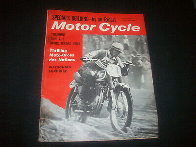 Zeitschrift ' The Motor Cycle ' Nr. 3090 30. Aug. 1962 GB