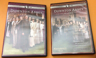 PBS DOWNTON ABBEY DVD Set - ORIGINAL UK EDITION, SEASONS 1 & 2 (6 DISCS) Lot