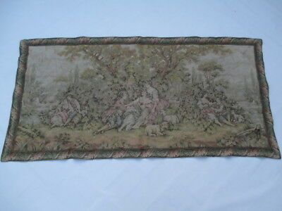 Old French / Belgium Tapestry Wall Hanging - 75 x 154 cm ( 4573 )