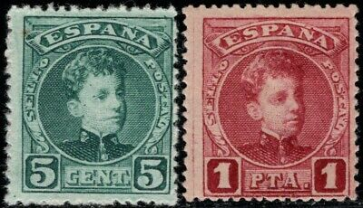 1901.MH.Ed:*242Na,253Na.Cadete.5 cts y 1 pts.MUESTRA.Numeración A00000.PC:78€