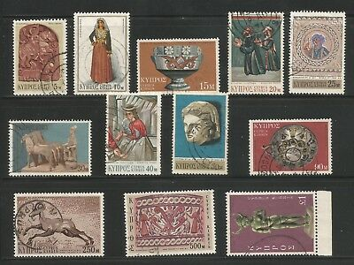 Cyprus,1971 Definitive Issue Short Used Set.