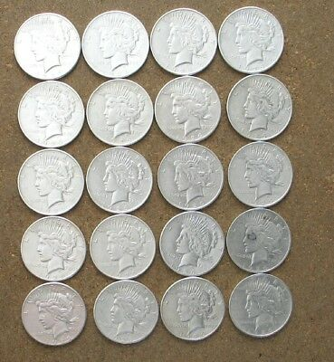 Roll 1926 P,d,s Peace Silver Dollars..