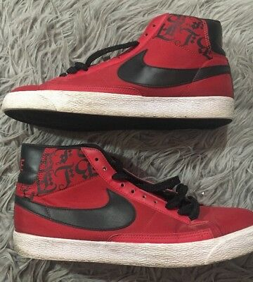finest selection 17321 c7e15 MENS NIKE BLAZER HIGH BLACK RED Beet HIGH TOP SNEAKER SHOES 11.5 315877-601